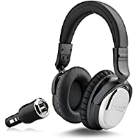 NoiseHush i7 Aviator Headphones with Active Noise Cancelling Technology, Inline Microphone w/ Free Car Charger