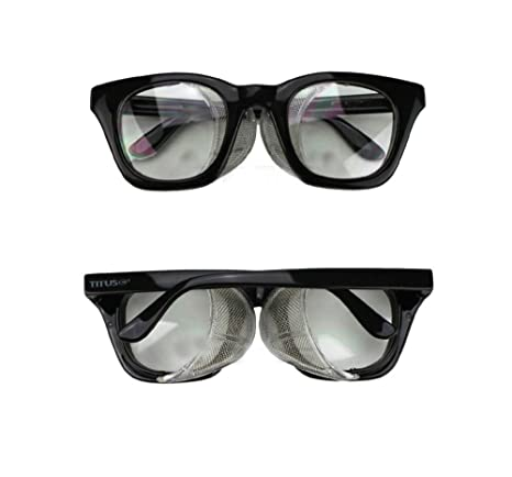 Wayfarer Style Safety Glasses Clear Night Riding Vtg Retro