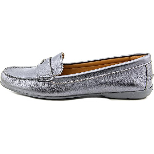 Coach Womens Odette Leather Almond Toe Loafers Gunmetal free shipping clearance store discount for cheap 0M0JxDtiuc
