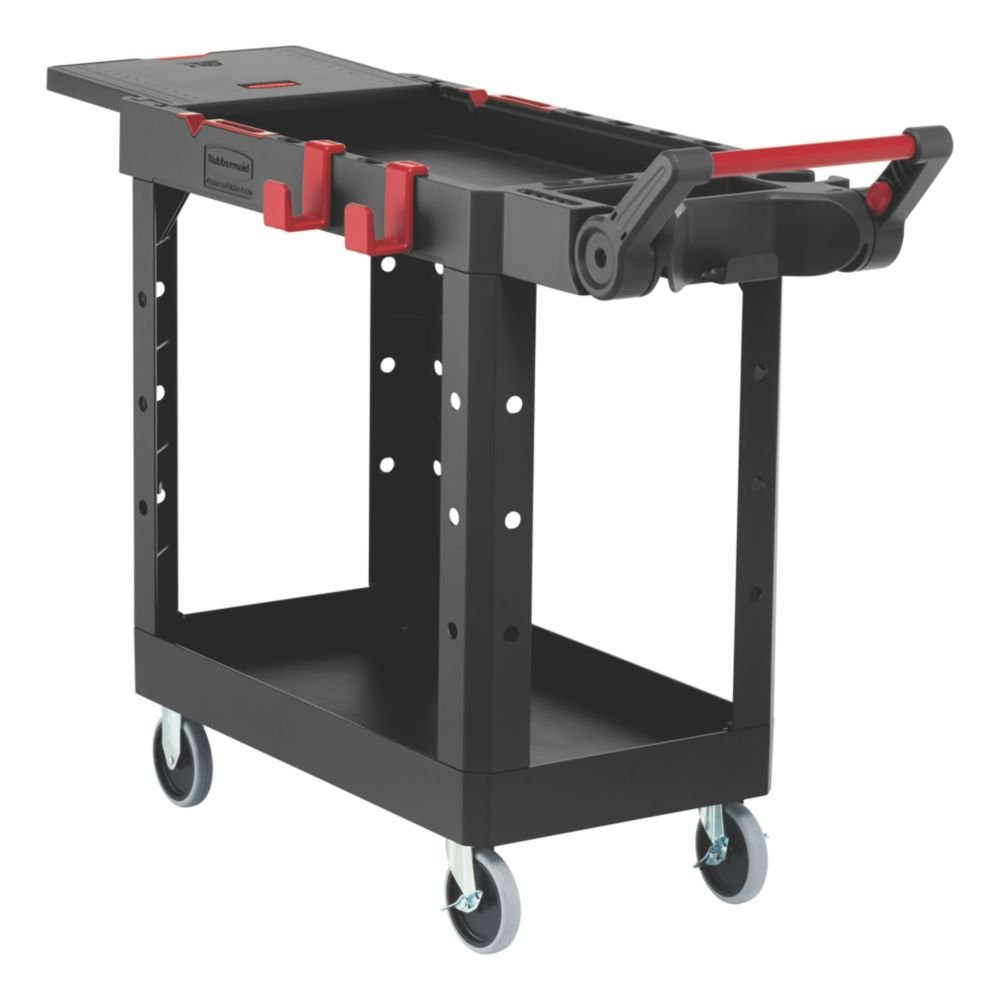 Rubbermaid Commercial Products 1997206 Heavy Duty Adaptable Utility Cart, Black, Small, 46.20'' Height, 36.00'' Width