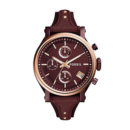 4 Original Boyfriend Sport Chronograph Wine Leather Watch ()