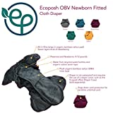 Ecoposh OBV Newborn Fitted Cloth Diaper, Caribbean