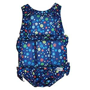 My Pool Pal Girl's Floatation Swimsuit (X-Small, Dots and Daisies)