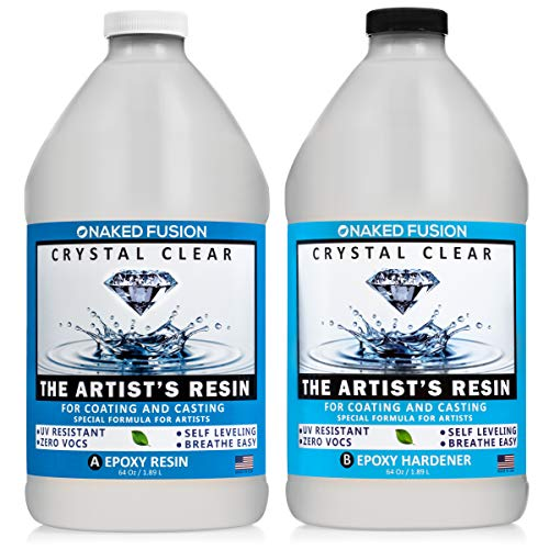 - Crystal Clear- Art Resin Epoxy - The Artist's Resin for Coating, Casting, Resin Art, Geodes, Tabletop, Bar Top, Live Edge Tables, River Tables- Non-Toxic -1 Gallon Kit