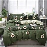 Avocado Comforter Cover Twin Size Boys Girls Cute Cartoon Tropical Fruits Printed Bedding Set Green Avocado Pattern…
