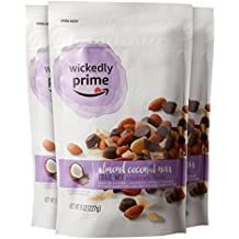 Wickedly Prime Trail Mix, Almond Coconut Noir, 8 Ounce (Pack of 3)