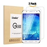 Galaxy J7 screen protector,[2-PACK] iAnder Premium Tempered Glass Screen Protector for Samsung Galaxy J7 [0.26mm Ultra Thin 9H Hardness 2.5D Round Edge]