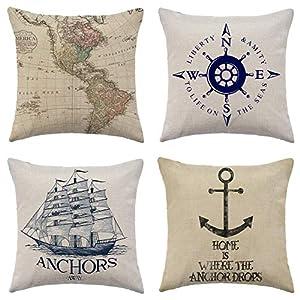 51WSZcCcm7L._SS300_ 100+ Nautical Pillows & Nautical Pillow Covers