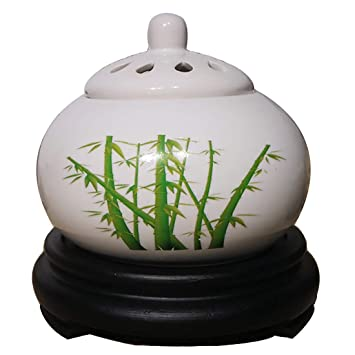 Patio Portico e Giardino Aromaterapia Timer per Bruciatore di Olio Essenziale Porcellana per Casa Balcone Bruciatore di Incenso in Ceramica Elettrico
