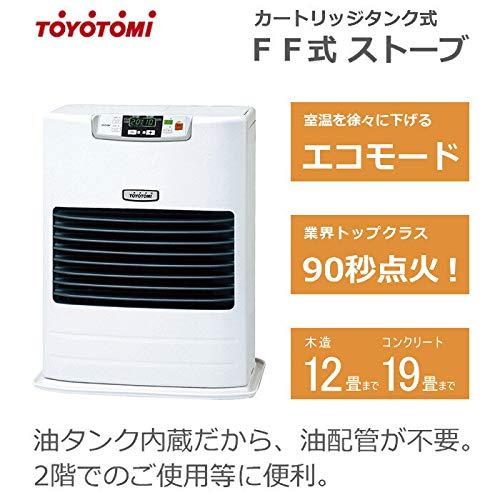 《토요토미》(TOYOTOMI) FF식 석유 스토브(석유 팬 히터) 에코 모드 탑재 PSC대응품 화이트 FF-45GT-W