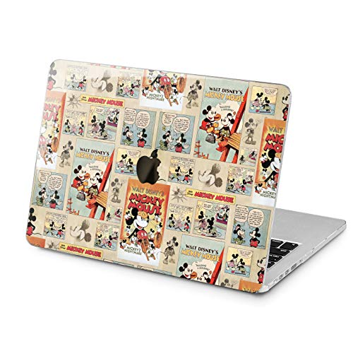 Lex Altern Mickey Mouse Hard Case MacBook Pro 15 inch Air 13 2018 Retro Retina 12 Apple 11 Laptop Disney Mac Cover 2016 2017 Pattern Protective Cute Rubberized Touch Bar 2015 Plastic Print Women Girl