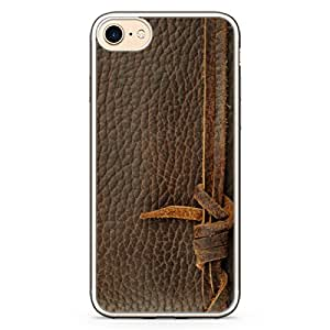 Loud Universe iPhone 8 Plus Transparent Edge Case - Old Leather Knot Print