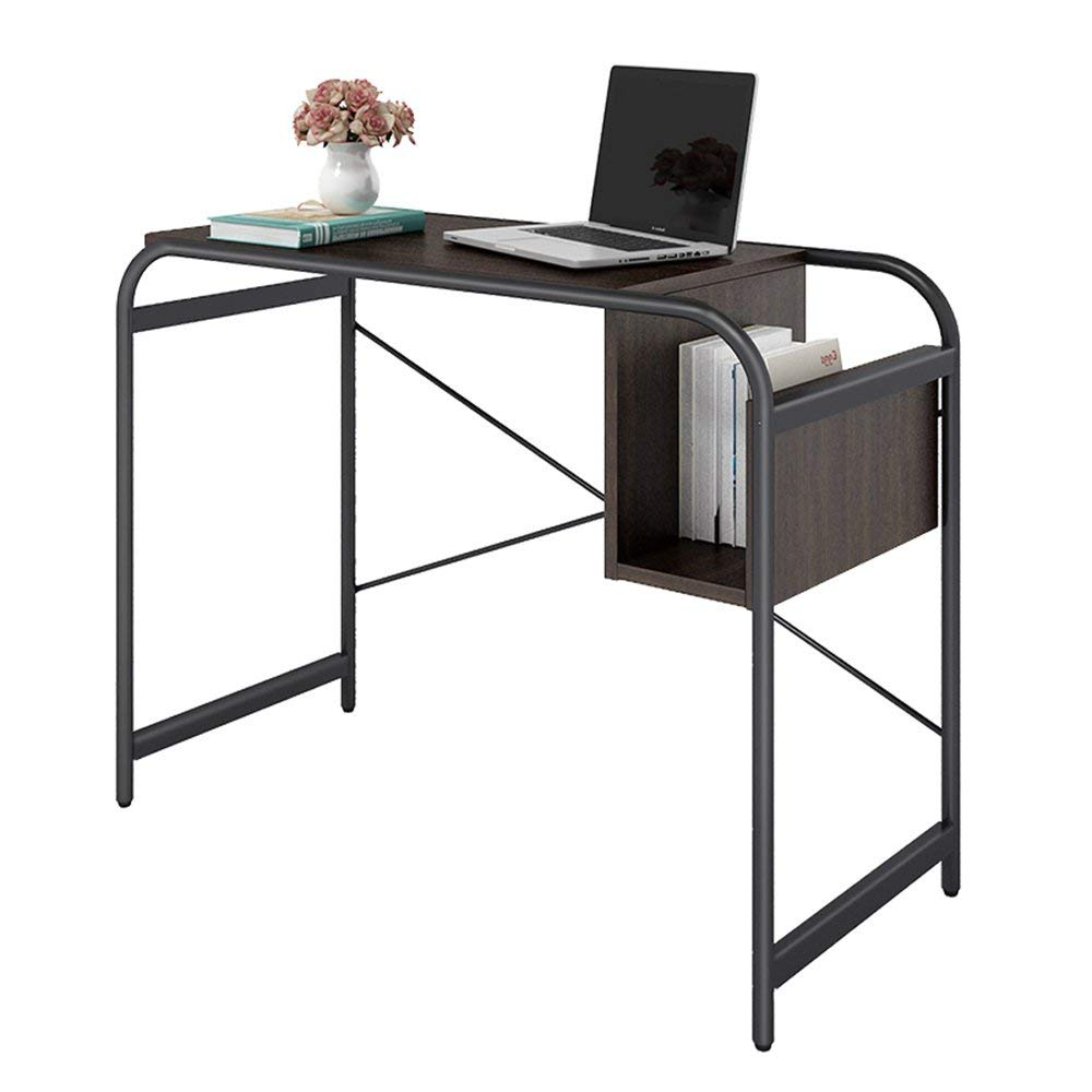 JZX Lazy Table-Folding Table Housewares Computer, Laptop Wooden Desk - Black