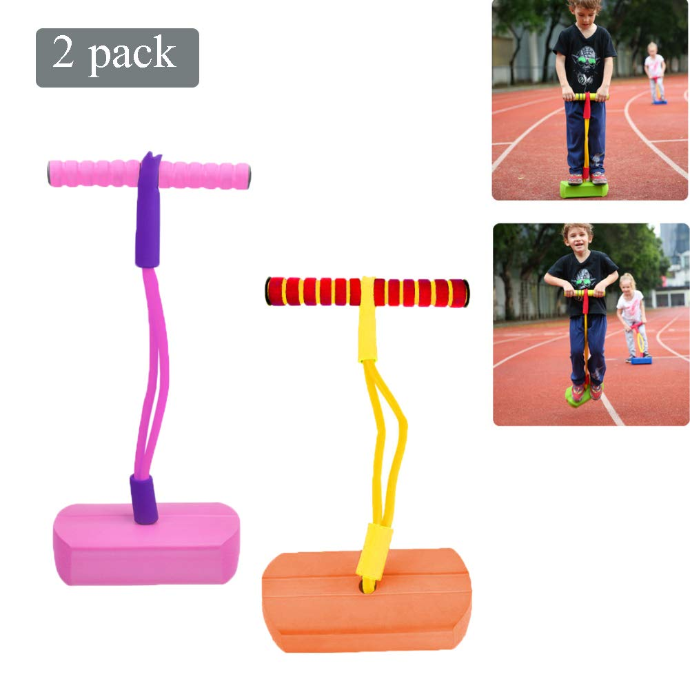 Pogo Stick Children's Jumping Stick Toy Bouncing Bubble Jumper Durable for Boys and Girls,B