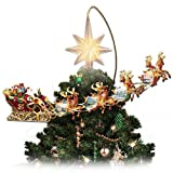 Thomas Kinkade Holidays in Motion Rotating Illuminated Treetopper: (Small Image)