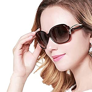 DUCO Women's Stylish Polarised Sunglasses Star Glasses 100% UV Protection 2229