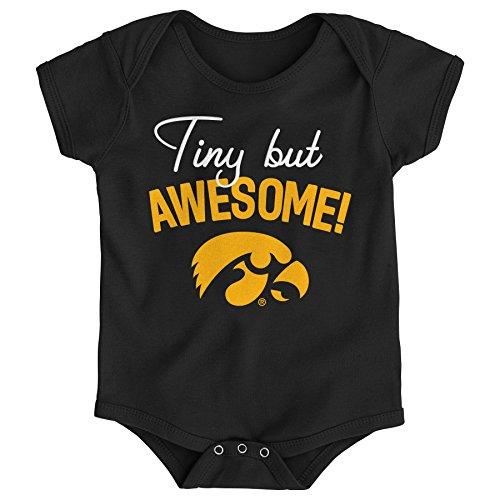 Iowa Hawkeye Baby Clothes - Gen 2 NCAA Iowa Hawkeyes Newborn & Infant Awesome Script Bodysuit, 6-9 Months, Black