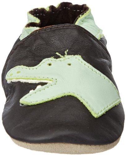 Jack & Lily Originals Crocodile Brown - Zapatillas de piel super divertidas y coloreadas