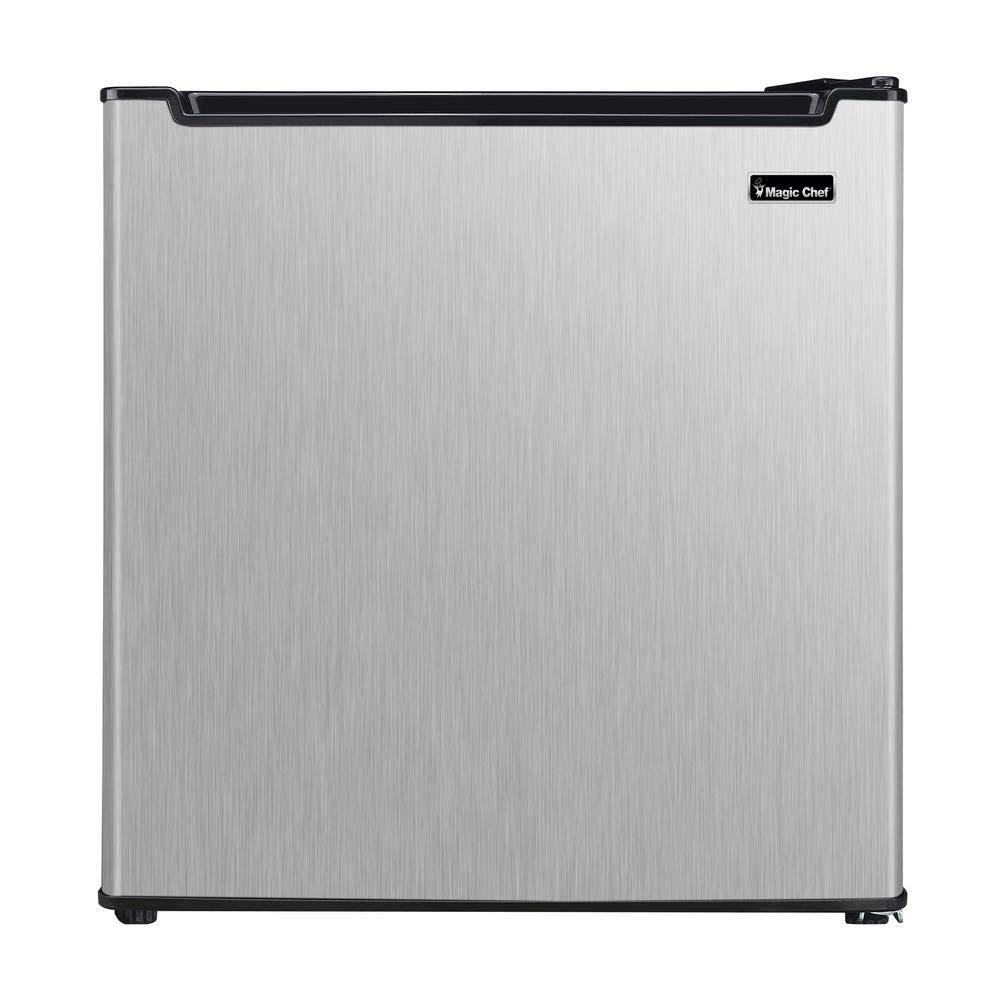 Mini nevera sin congelador en acero inoxidable (1,7 cu. cuadrados ...