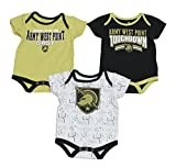 Outerstuff Army Black Knights NCAA Playmaker Infant 3 Pack Bodysuit Creeper Set