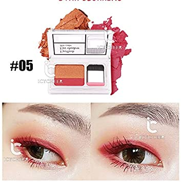 Eye Shadow Icycheer Makeup Magazine Lazy Eyeshadow Stamp Holiday Edition Eye Shadow Double Color Shimmer Palette Long Lasting Natual Nude Beauty & Health