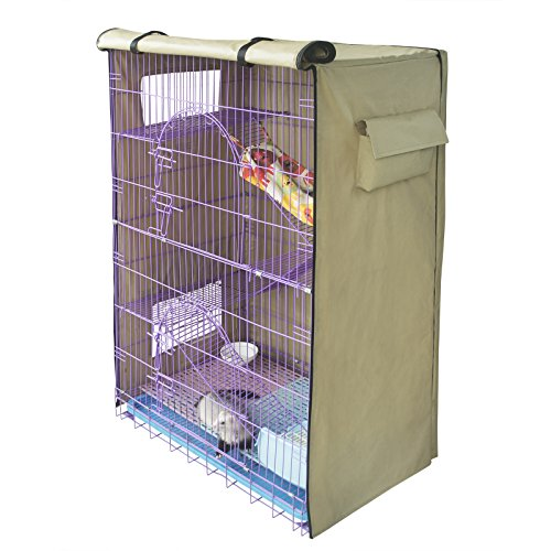 Yizhi Miaow Critter Nation Cage Cover, Ferret Kennel Cat Playpen Cover Light Coffee Model 162 / Model 130 ()