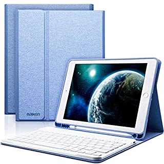 iPad 6th Generation Keyboard Case, iPad 9.7 Keyboard Case for iPad 6th Gen 2018 iPad 5th Gen 2017 iPad Pro 9.7 iPad Air 2 Air 1 with Pencil Holder 9.7 iPad Cover with Bluetooth Detachable Keyboard
