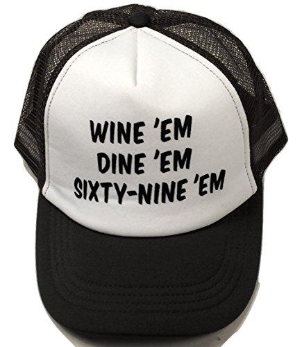 Dumb And Dumber Hat (Wine Em Dine Em Sixty-Nine Em Trucker Hat Sea Bass Dumb & Dumber Seabass 69)