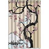 Top design Beautiful Cherry Blossom Tree,Japan Cherry Blossom art Shower Curtain 48(w) x 72(h) Generic Shower Curtain Liners by Cherry Blossom Shower Curtain
