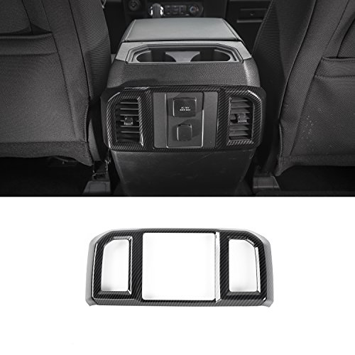 Voodonala Black Carbon Fiber Texture Rear Air Condition Outlet Vent Covers Trim for Ford F150 2016 2017 … by Voodonala