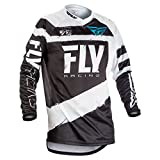 Fly Racing Men's Jersey (Black/White, Youth X-Large)
