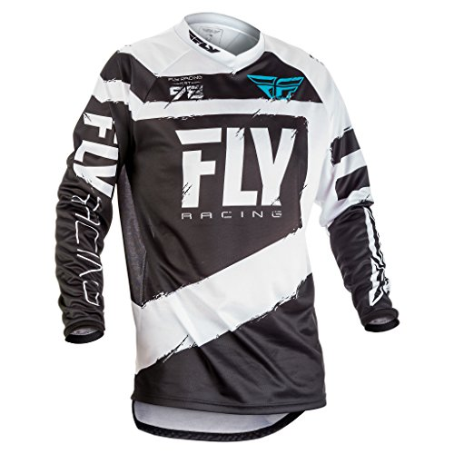 Fly Racing Men's Jersey (Black/White, Youth Small) by Fly Racing