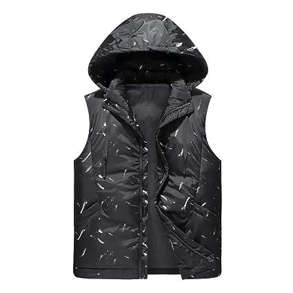 Chaleco de invierno para hombre, chaqueta sin mangas para hombre Chaleco para hombre abajo Abrigos