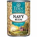Eden Organic Navy Beans, No Salt Added, 15-Ounce Cans (Pack of 12)