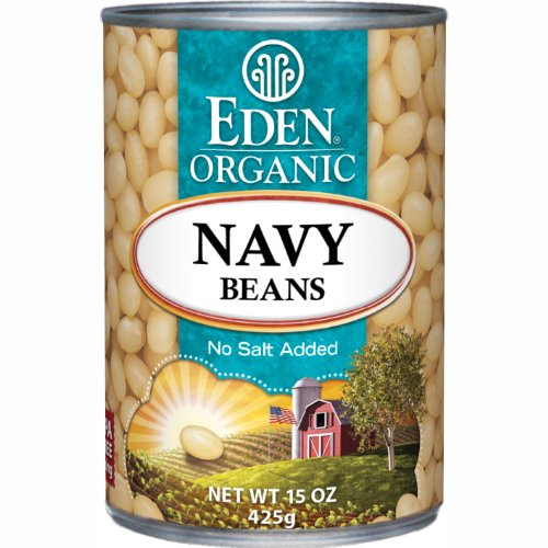 (Eden Organic Navy Beans, No Salt Added, 15-Ounce Cans (Pack of 12))
