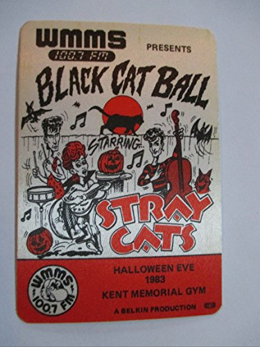 1983 Stray Cats Backstage Pass Radio Promo Kent Memorial Gym Halloween