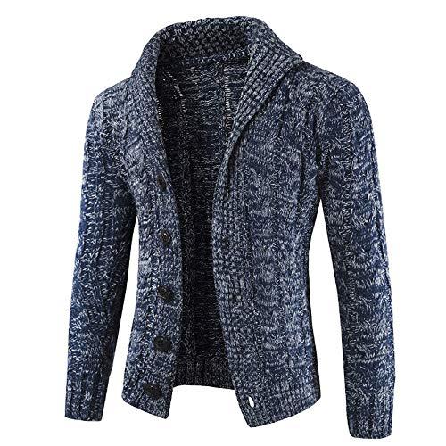 Revers Tricot Mode Manteaux Blouson Homme Chaude Col En Jacket Aimee7 Marine Veste Bouton xqTXUR