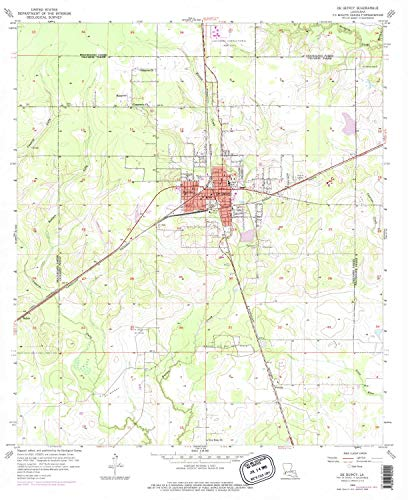 - YellowMaps De Quincy LA topo map, 1:24000 Scale, 7.5 X 7.5 Minute, Historical, 1956, Updated 1976, 26.9 x 22 in - Paper