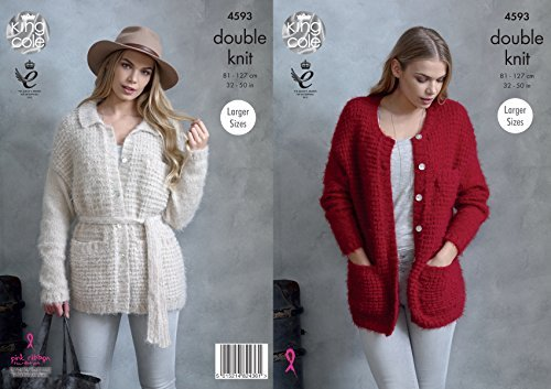 King Cole Womens Double Knitting Pattern Ladies Jackets with Round Neck or Collar (4593) by King Cole by King Cole
