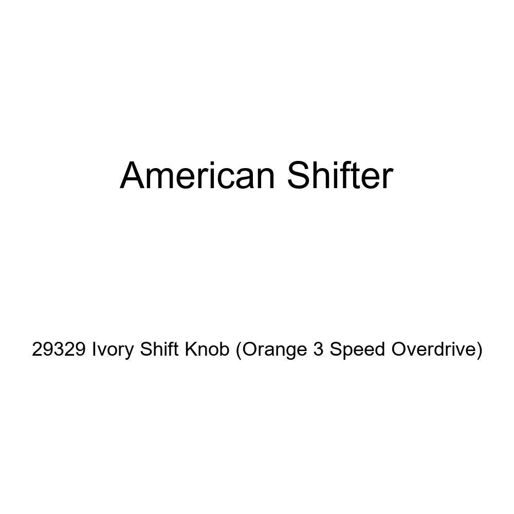 Orange 3 Speed Overdrive American Shifter 29329 Ivory Shift Knob