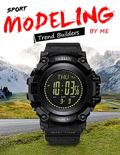 Mens Digital Sports Watch Altimeter Barometer Compass Thermometer Pedometer Military Multifunction Outdoor Army Watch