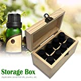 Essential Oils Storage Wooden Box - with 8 Slots