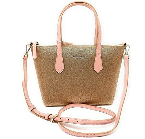 Kate Spade New York Glitter Joeley Small Satchel (Rose Gold)