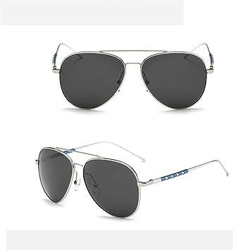 ZHANG Les hommes de lunettes de soleil polarisées aluminium-magnésium marée lunettes de conduite temples Beach Voyage yourte, 2