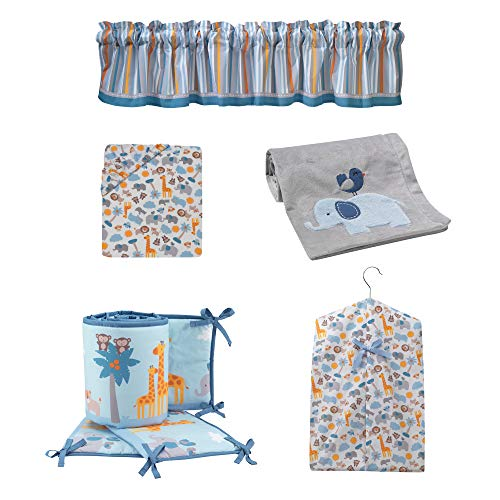 Bedtime Originals Two by Two 5-Piece Crib Bedding Set with Crib Bumpers