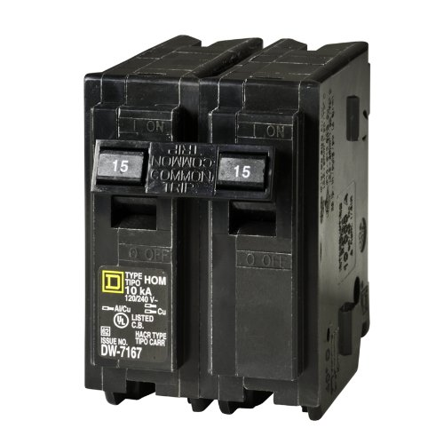 Square D by Schneider Electric HOM215CP Homeline 15 Amp Two-Pole Circuit Breaker by Square D by Schneider Electric (Image #1)