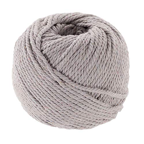 Cement, 3mm X 50m (About 55 Yards) Decorative Natural Bohemia Macramé Knitting Craft Cotton Rope Handmade DIY Wall Hangings Plant Hangers