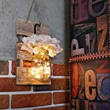 Rustic Brown Mason Jar Sconces for Wall