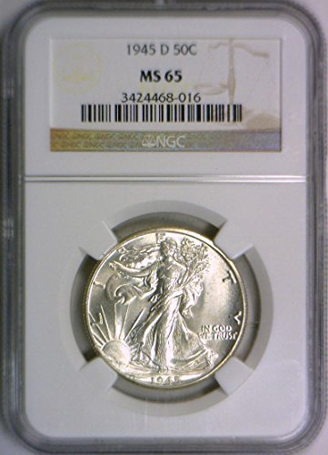 1945 D Walking Liberty Half Dollar MS-65 NGC