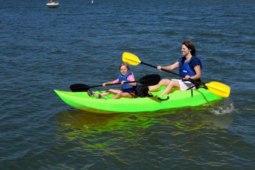 Lifetime Tandem Sit on Top Kayak with Back Rests, 10 Feet, Green
